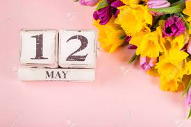 Wooden Blocks With USA Mothers Day Date, 12 May, For The Year.. Stock  Photo, Picture And Royalty Free Image. Image 115735178.