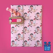 selfie wrapping paper