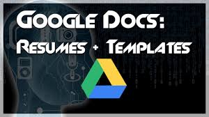 resume templates google docs. TUTORIAL How to Create a Resume using Google Docs Templates YouTube