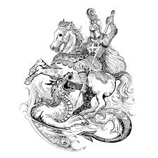 Saint George And The Dragon On Behance Small Tattoo Saint George