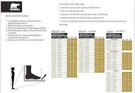 79 Bright Sorel Boot Sizing Chart