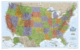 produktcover national geographic wall map usa explorer laminated 1 6 396 000