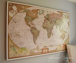 world map wall art diy wall map on world map wall art with photo frames with world map wall art slipcovered grey