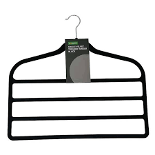 single black velvet trouser hanger