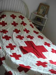 Feathered Star Quilts - World War I Red Cross Quilt honoring ... & Some close-ups of the Company C 166th Infantry Red Cross quilt Adamdwight.com