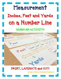 Inches To Tenths Of A Foot Chart Measurement Number Line Inches Feet Yards A Fun Hands On