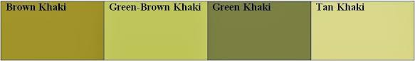 khaki green color.  Green Early War Tended To Be A More Brownkhaki Late War Greenkhaki Below  Are My Four Main Color Choices For Khaki Green Color H
