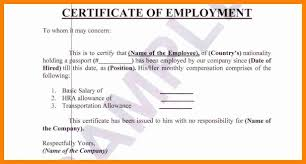 7 Certificate Of Employment With Salary Sample Simple Salary Slip