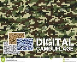 Militaire Patroon Van De Vier Het Verschillende Kleuren Digitale