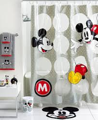disney kids bathroom sets with mickey mouse shower curtains and freestanding bathtub also small table under towel bar cool shower curtains for kids49 curtains