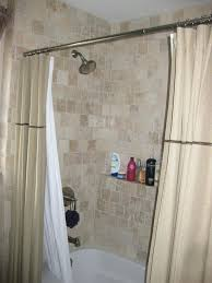 double shower curtain love the double curtains outside the shower from zenith satin nickel double tension