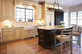 Granite With Cream Cabinets Tremendous Brown Wood Floor Chocolate Wooden Cabinet Simple