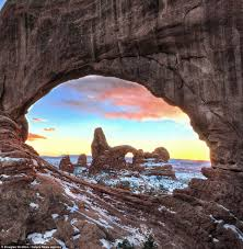 Natural framing photography Man Made The Photographer Used The Natural Cavelike Windows In The Rock Formations To Frame His The Daily Mail Photographer Douglas Stratton Captures Peepholes On The Landscapes