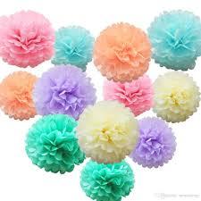 2018 tissue paper flower pom pom rose ball 10 35cm hanging paper garland baby shower wedding party decoration craft diy supplies from nestorlong