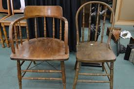 Image Folding Chairs Image Two Vintage Wooden Chairs Including Cnr Captains Style Chair Icollectorcom Two Vintage Wooden Chairs Including Cnr Captains Style Chair