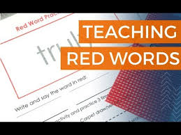 Word In Red How To Teach Red Words Smarter Intervention