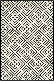 area rugs nieve black white geometric area rug