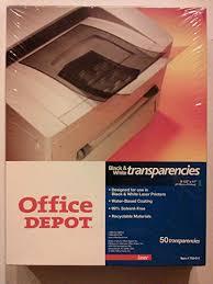 Office Depot Logo Design New Amazon Office DepotR Laser Transparency Film For Black Amp