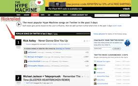 1972 Music Charts The Hype Machines New Twitter Music Chart Is Too Easy To