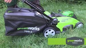 Обзор <b>Аккумуляторная газонокосилка GREENWORKS</b> G40LM40 ...