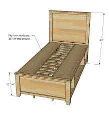 storage bed plans. Ana White Hailey Storage Bed Twin Diy Projects Plans With