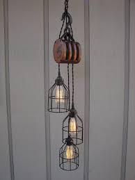 vintage farmhouse lighting. Vintage Farmhouse Pulley Light - Wood-lamps, Pendant-lighting Lighting T