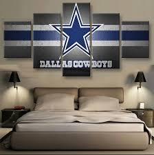 5 pieces set dallas cowboys logo on canvas sport painting unique wall art modern abstract on dallas cowboys logo wall art with 5 pieces set dallas cowboys logo on canvas sport painting unique