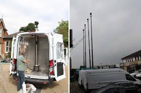 Truck Mounted Led Light Tower Vehicle Inside Mounting Cctv Mast Pht Design Produce Sell