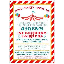 Carnival Birthday Invitations Carnival Stripe Birthday Invitations