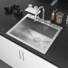 Colony 25x22inch Stainless Steel Kitchen Sink  3 Hole  American 25 X 22 Kitchen Sink
