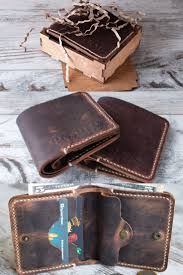 corporate gifts ideas wallet men personalized custom leather wallet bifold