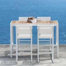 inspiring outdoor bistro table bar height with mamagreen allux teak outdoor bistro table bar height table