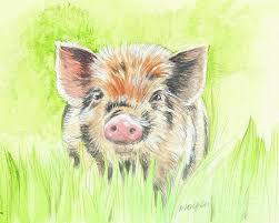 fitztown farm pig 2 painting by morgan fitzsimons fitztown farm pig 2 fine art prints