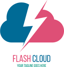 cloud and lightning Logo Vector (.EPS) Free Download