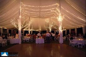 wedding tent lighting ideas. Miniature White Christmas Lights Behind Fabric Creates A Soft, Airy Feel To The Tent Top. It Is Always Suggested That Supplemental Perimeter Lighting Wedding Ideas I