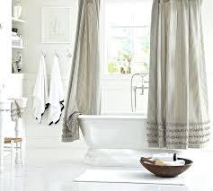 ticking stripe shower curtain ticking stripe ruffled shower curtain gray and white ticking stripe shower curtain