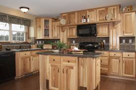 Kitchen Bar Comfortable Kitchen Design With Natural Hickory