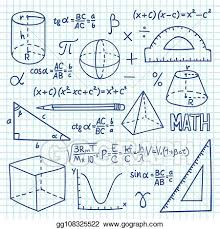 Vector Art Doodle Maths And Geometry Concept Trigonometry
