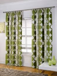 green curtains living room window