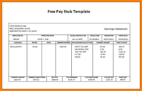Pay Stub Samples Free