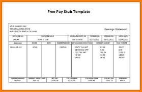 Pay Stub Samples Free