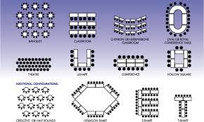 Crescent Ballroom Seating Chart Meeting Room Seating Arrangements Classroom Arrangement