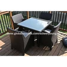 china garden set outdoor furniture round wicker circle rattan dining table set