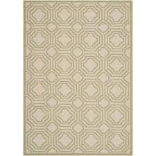 safavieh courtyard beige indoor outdoor rug 5 3 x 7 7 only