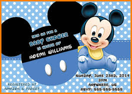 Free Mickey Mouse Baby Shower Invitation Templates Image Cabinets