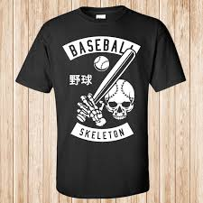 Skeleton Design T Shirt Design T Shirts Casual Cool Baseball Skeleton T Shirt White Designer T Shirts Clever T Shirt From Toptees32 12 7 Dhgate Com