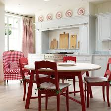 Red country kitchens French Country Red Countrysyle Accents Ideal Home Red Kitchen Colour Ideas Home Trends Ideal Home