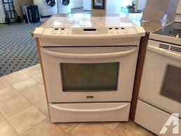 kenmore elite range elite white slide in glass top range stove oven