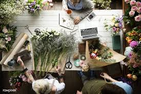 Jobs Related To Floral Design Download Premium Image Of Florist Job Flower Arrangement And