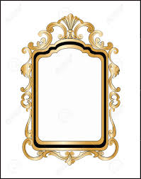 Mirror frame vector Illustration Golden Decor Mirror Frame Vector Stock Vector 50378990 123rfcom Golden Decor Mirror Frame Vector Royalty Free Cliparts Vectors